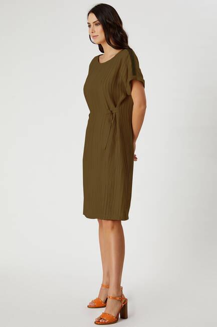 Aksesuar şeritli elbise - Thumbnail