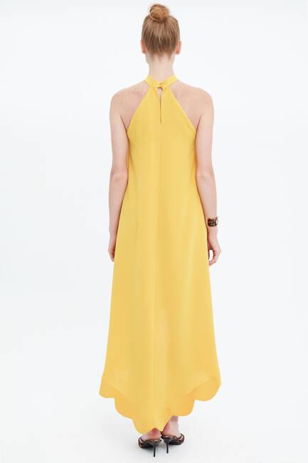 Boyundan Bağlamalı Krep Elbise - Thumbnail