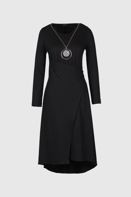 Asimetrik Örme Elbise - Thumbnail