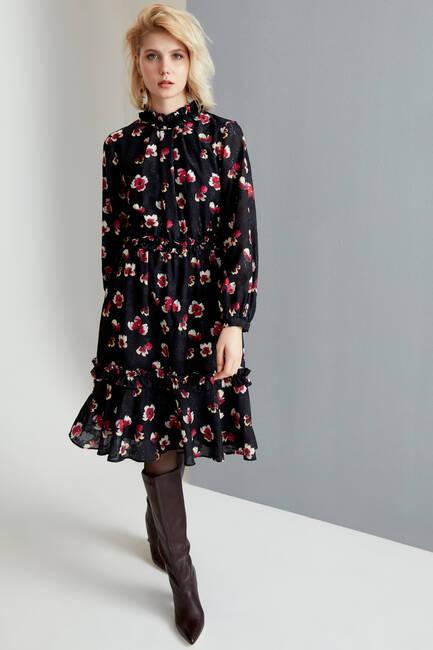 Çiçek Baskılı Elbise - Thumbnail