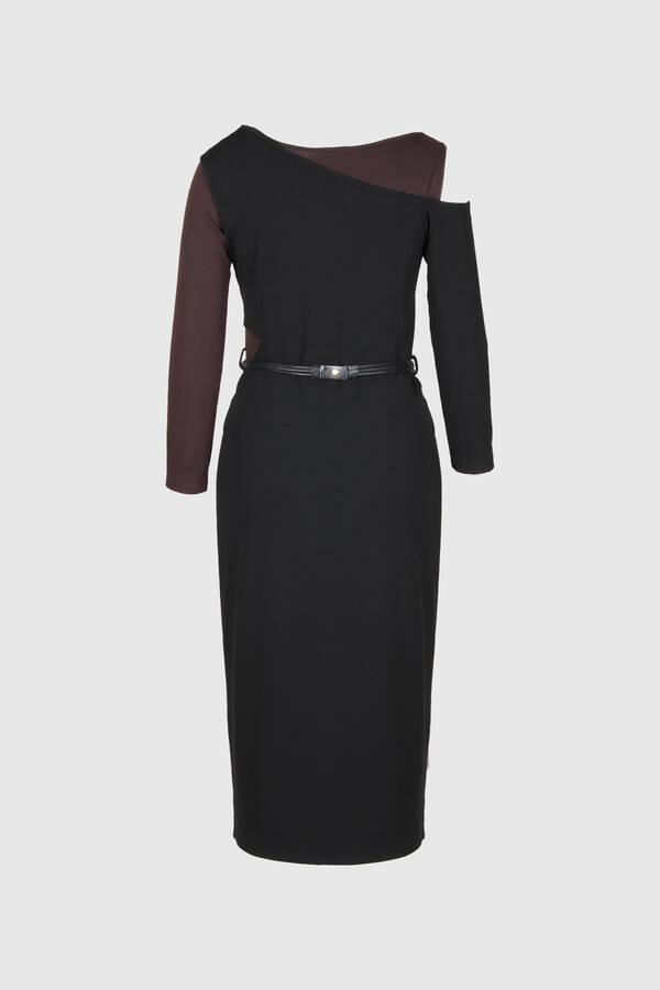 Çift Giyimli Asimetrik Elbise