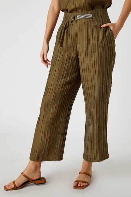 Çizgi dokulu pantolon - Thumbnail