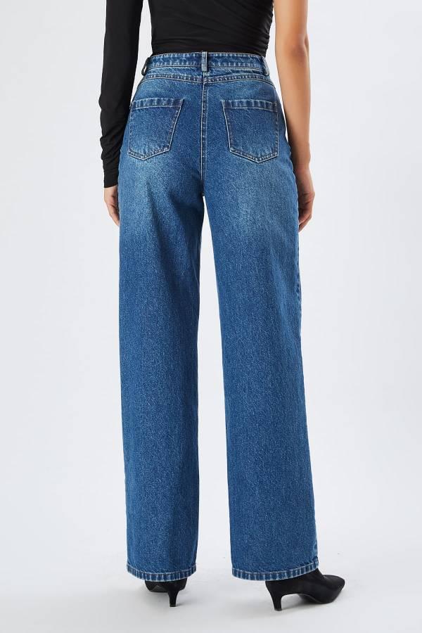 Geniş paça jean pantolon