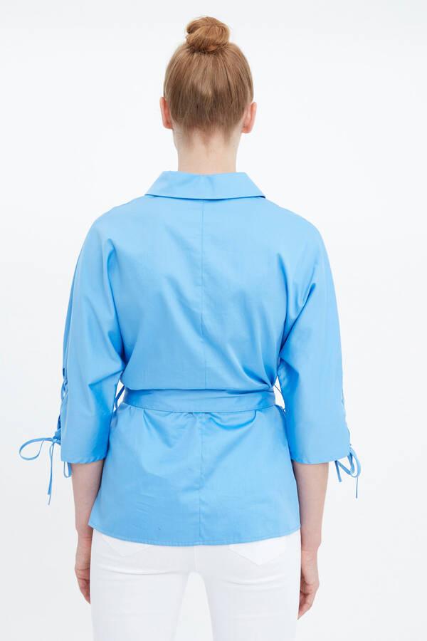 Kolu Bağcıklı Bluz