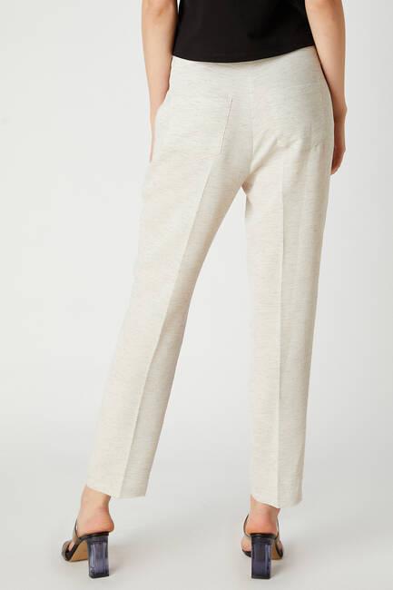 Keten görünümlü pantolon - Thumbnail
