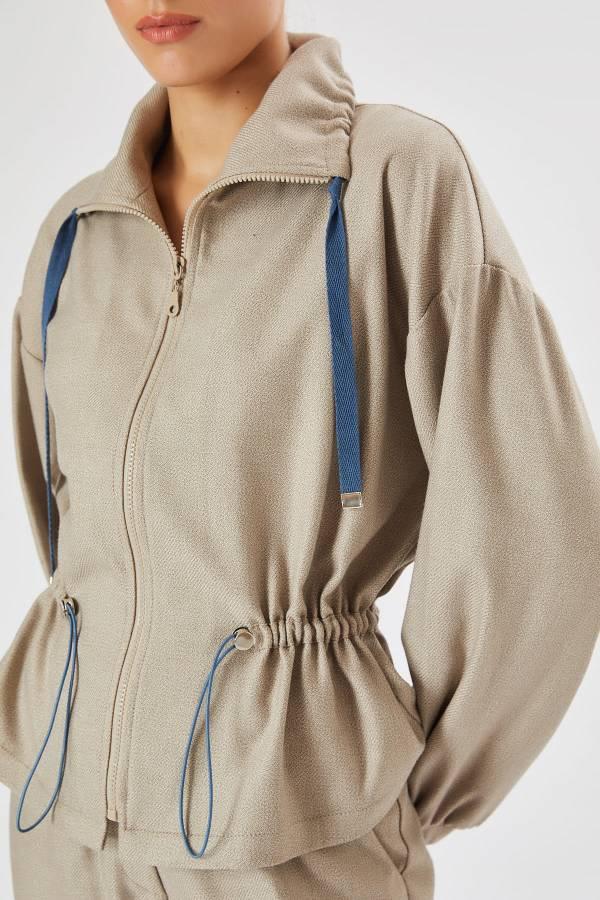 Önü fermuarlı gömlek ceket