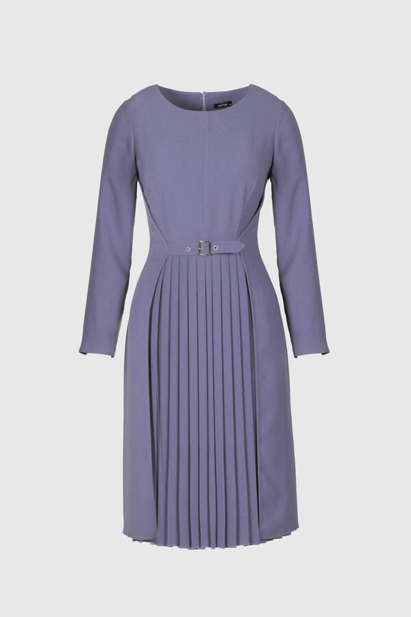 Pilise Geçişli Krep Elbise