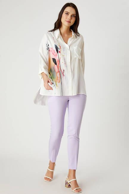Renkli baskılı gömlek - Thumbnail