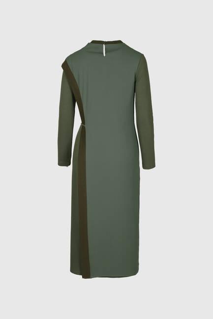 Ribana Bantlı Örme Elbise - Thumbnail