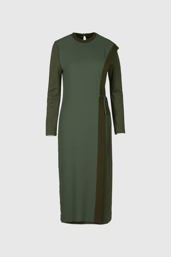 Ribana Bantlı Örme Elbise