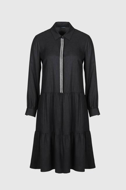 Şerit Aksesuarlı Elbise - Thumbnail