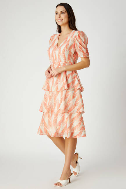 Sim puanlı kat kat elbise - Thumbnail