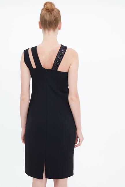 Payet Bantlı Elbise - Thumbnail