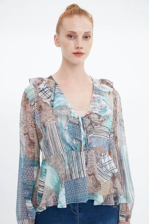 Volan Yakalı Bluz